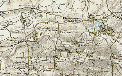 Old map of Laverickstone in 1901-1904