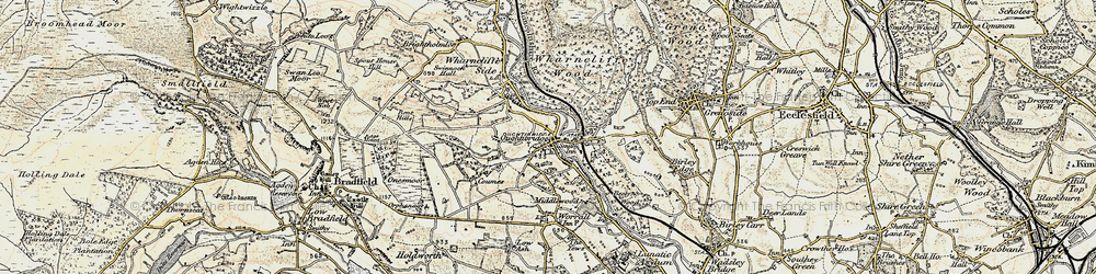 Old map of Wharncliffe Wood in 1903