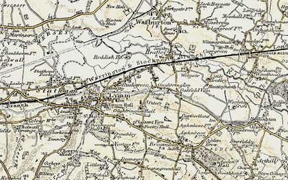 Old map of Oughtrington in 1903