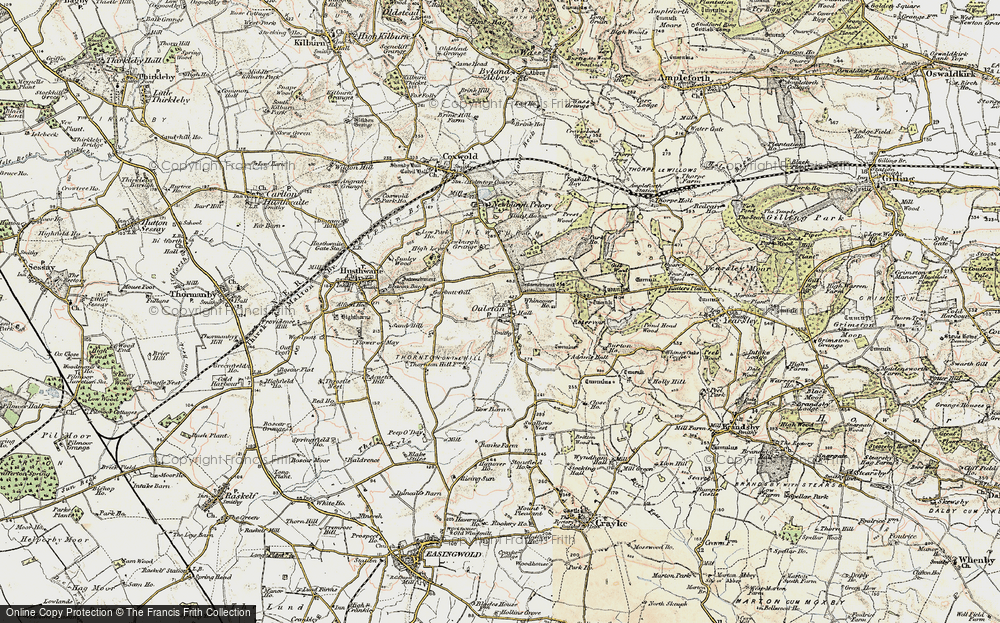 Old Map of Historic Map covering Adam's Hall in 1903-1904