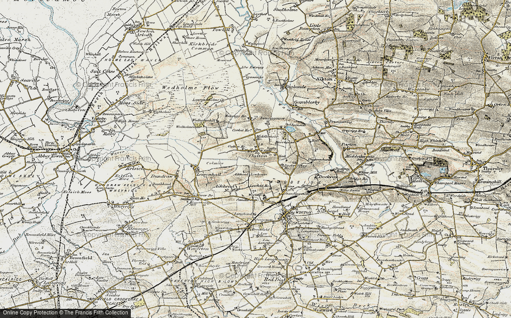 Old Map of Historic Map covering Aikhead Low Ho in 1901-1904