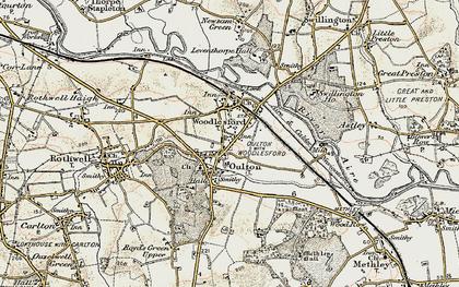 Old map of Aire & Calder Navigation in 1903