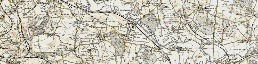 Old map of Oulton in 1903