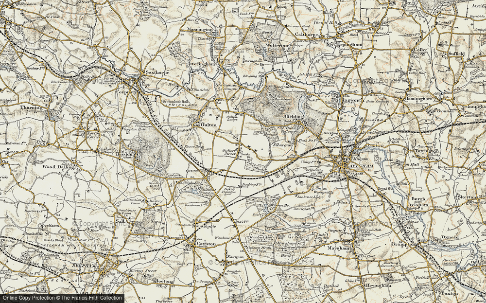Old Map of Historic Map covering Leaselands, The in 1901-1902