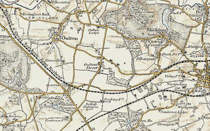 Old map of Leaselands, The in 1901-1902