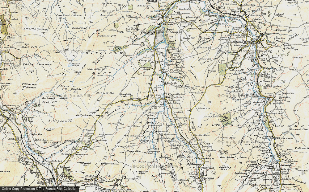 Old Map of Historic Map covering Allen Dale in 1901-1904