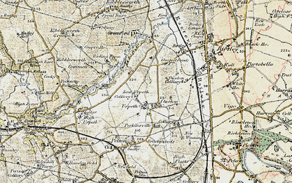 Old map of Ouston in 1901-1904
