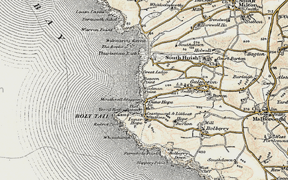 Old map of Woolman Point in 1899-1900