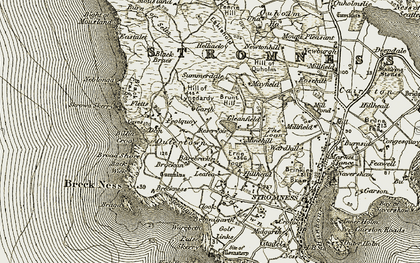 Old map of Leafea in 1912