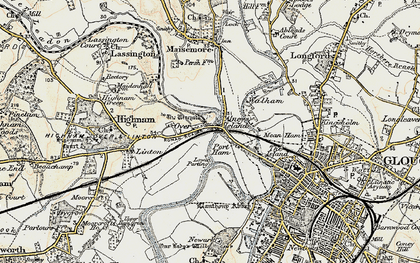 Old map of Over in 1898-1900