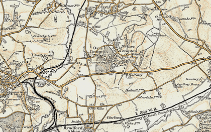 Old map of Babylon Hill in 1899