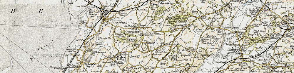 Old map of Addington in 1903-1904