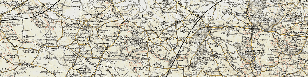Old map of Over Peover in 1902-1903