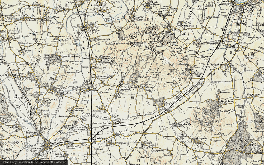 Old Map of Overbury, 1899-1901 in 1899-1901