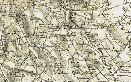 Old map of Whitehill in 1909-1910