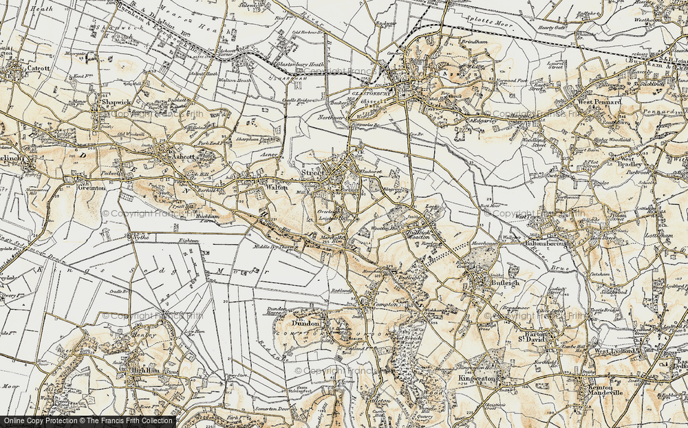 Old Map of Historic Map covering Leigh Holt in 1898-1900
