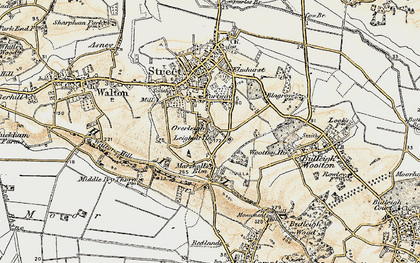 Old map of Wooton Ho in 1898-1900