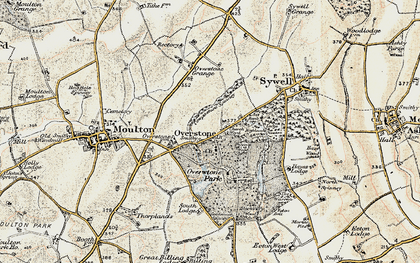 Old map of Overstone in 1901
