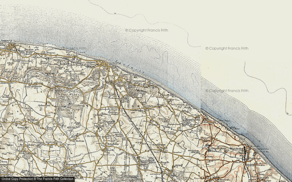Old Map of Historic Map covering Toll's Hill in 1901-1902
