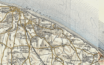 Old map of Overstrand in 1901-1902