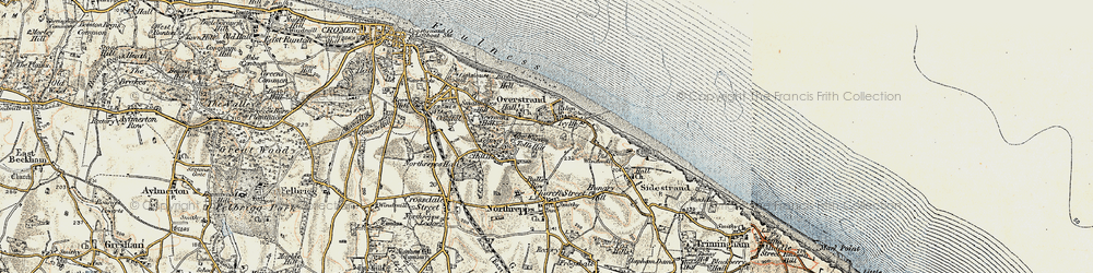 Old map of Toll's Hill in 1901-1902