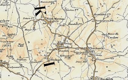 Old map of Oving in 1898