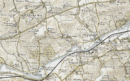 Old map of Whittle Burn in 1901-1904