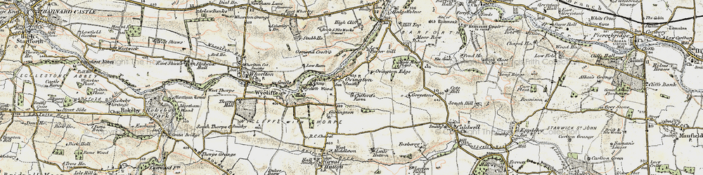 Old map of Wycliffe Wood in 1903-1904