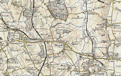 Old map of Owlcotes in 1902-1903