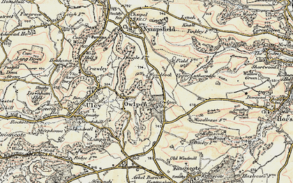 Old map of Owlpen in 1898-1900
