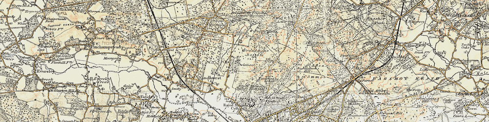 Old map of Windsor Ride in 1897-1909