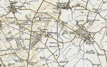 Old map of Wolds Hill in 1902-1903