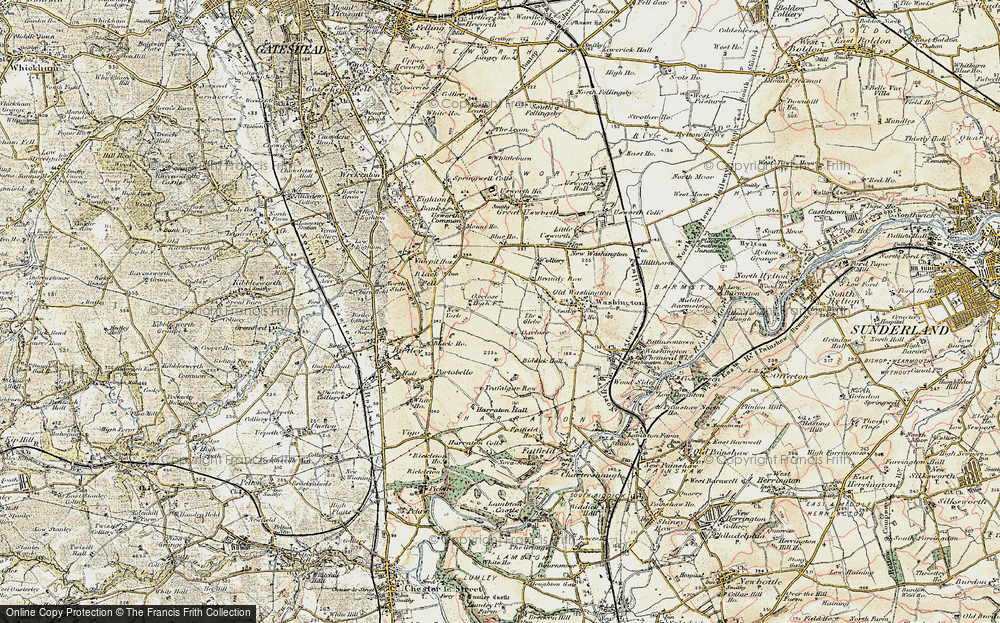 Old Map of Oxclose, 1901-1904 in 1901-1904
