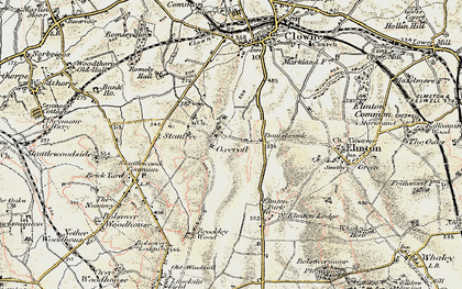 Old map of Oxcroft in 1902-1903