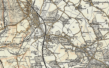 Old map of Oxhey in 1897-1898
