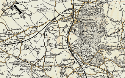 Old map of Oxlease in 1898