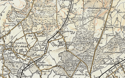 Old map of Oxshott in 1897-1909