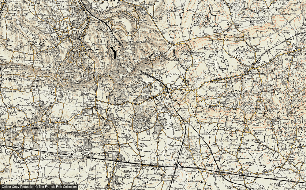 Old Map of Oxted, 1898-1902 in 1898-1902