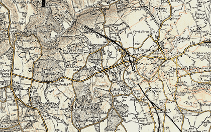 Old map of Oxted in 1898-1902