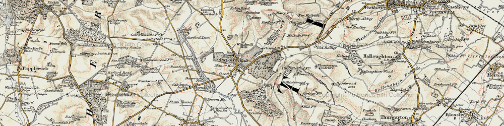 Old map of Windmill Hill in 1902