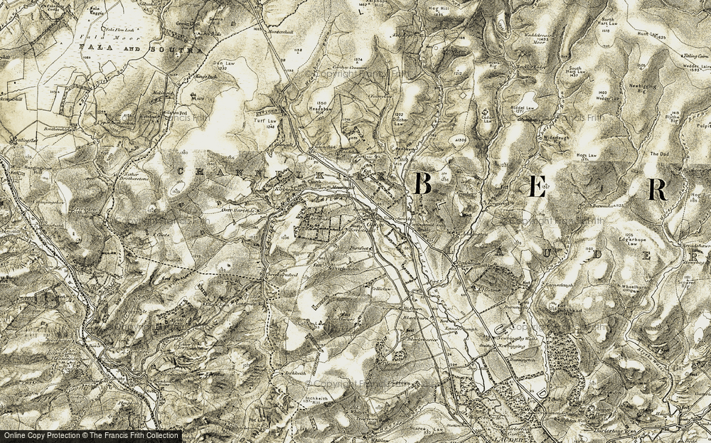 Old Map of Historic Map covering Airhouse in 1903-1904