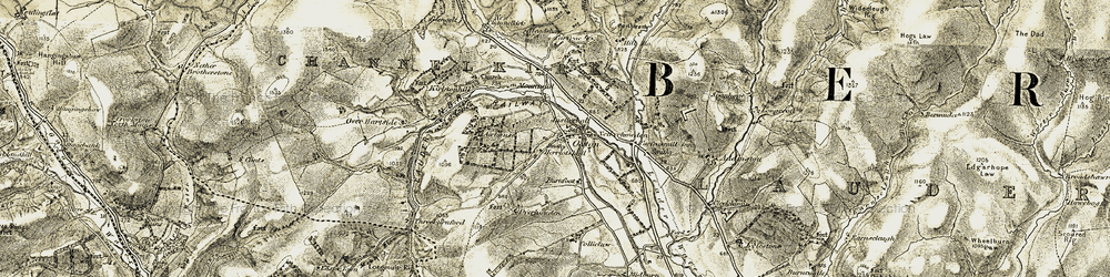 Old map of Airhouse in 1903-1904