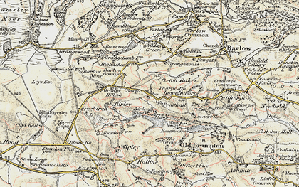 Old map of Oxton Rakes in 1902-1903