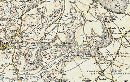 Old map of Ozleworth in 1898-1899