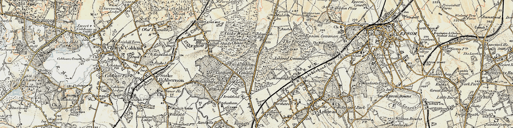 Old map of Wood Field in 1897-1909