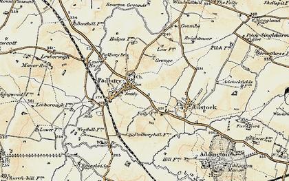 Old map of Padbury in 1898