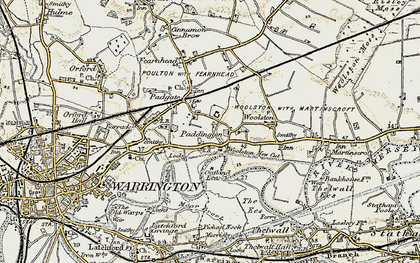 Old map of Paddington in 1903