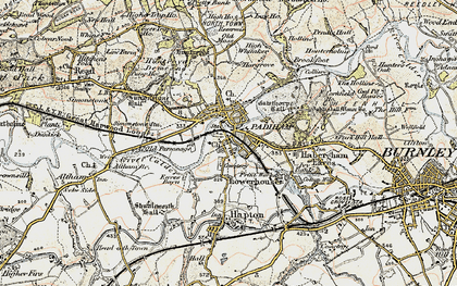 Old map of Padiham in 1903