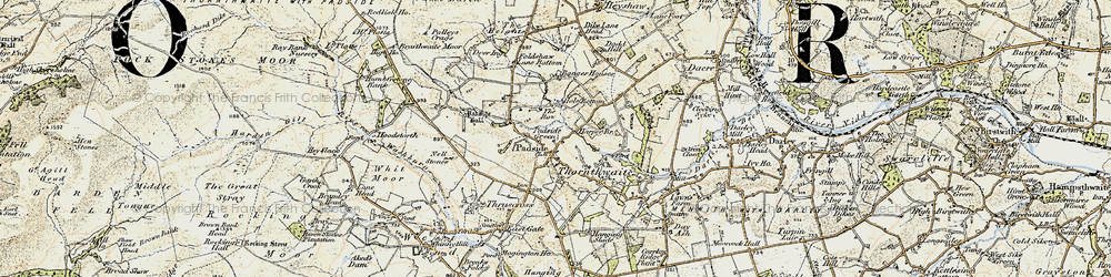 Old map of Yates Ho in 1903-1904