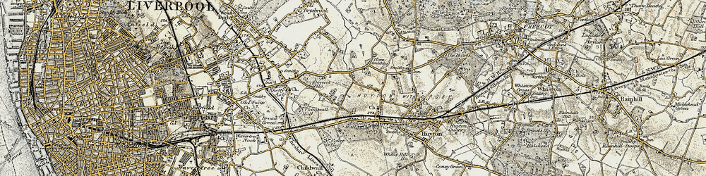 Old map of Page Moss in 1902-1903